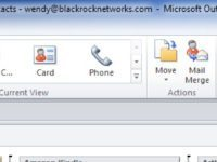 Outlook 2010: How to change your default Contacts Address